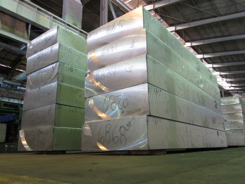 Aluminum slab royalty free stock photos
