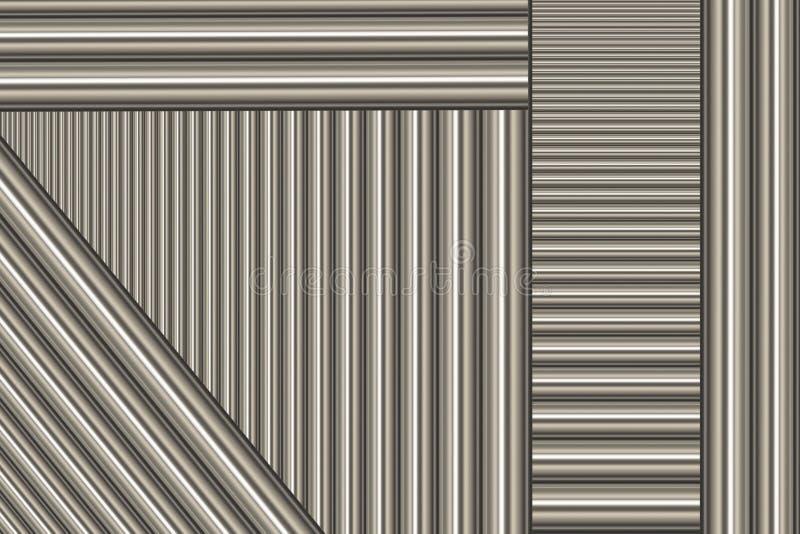 aluminum stänger vektor illustrationer