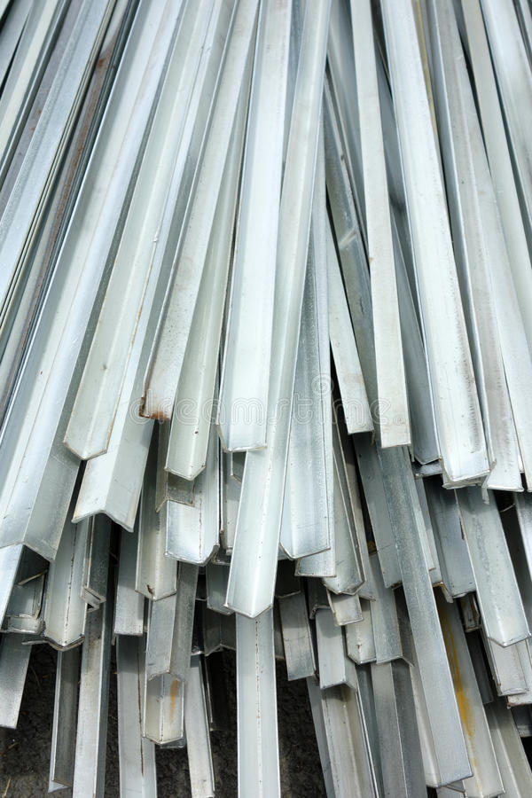 Aluminum. Stacked aluminum on the construction site royalty free stock photography
