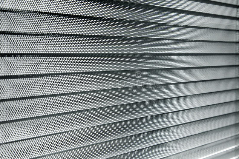 Aluminum sun blinds. Close up, decoration with aluminum sun blinds royalty free stock photos