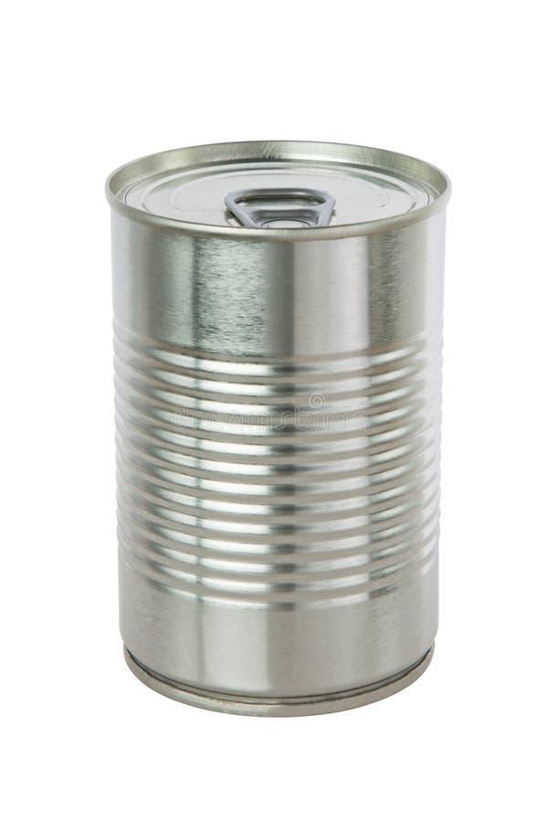 Aluminum tin can. royalty free stock photography