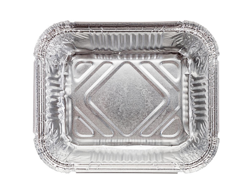Aluminum tray isolated on a white background.  royalty free stock images