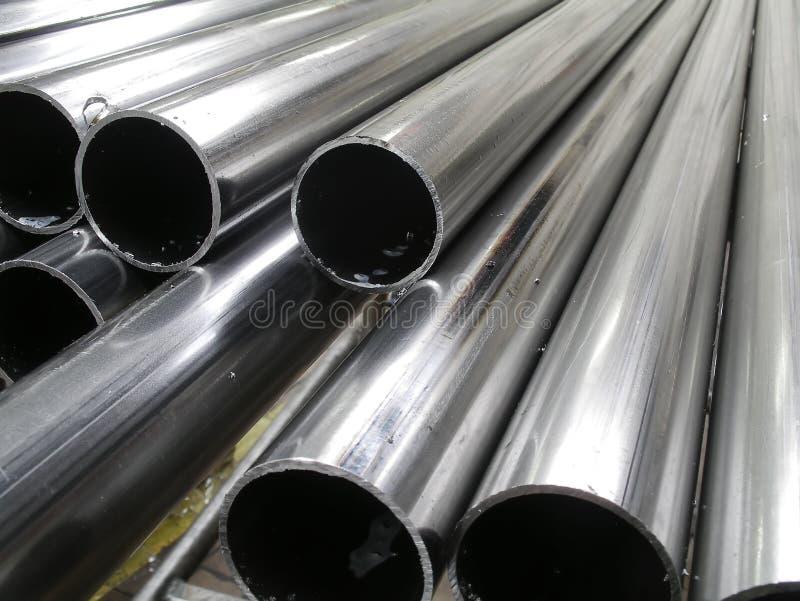 Aluminum tubes stock photo