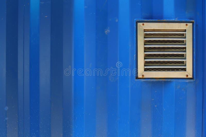 Download Aluminum Ventilation On Blue Cargo Container Stock Photo - Image: 41337808