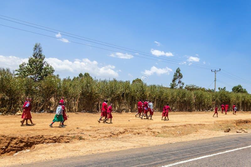 Alumnos africanos fotos de archivo