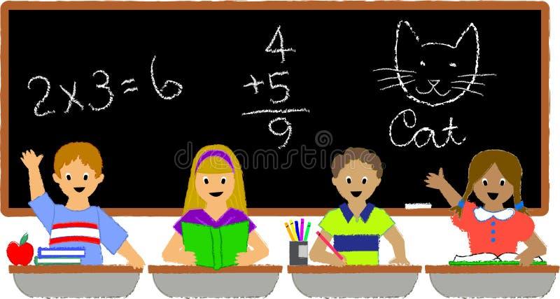 Alumnos Classroom/ai stock de ilustración