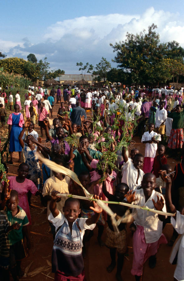 Alumnos en Uganda. imágenes de archivo libres de regalías