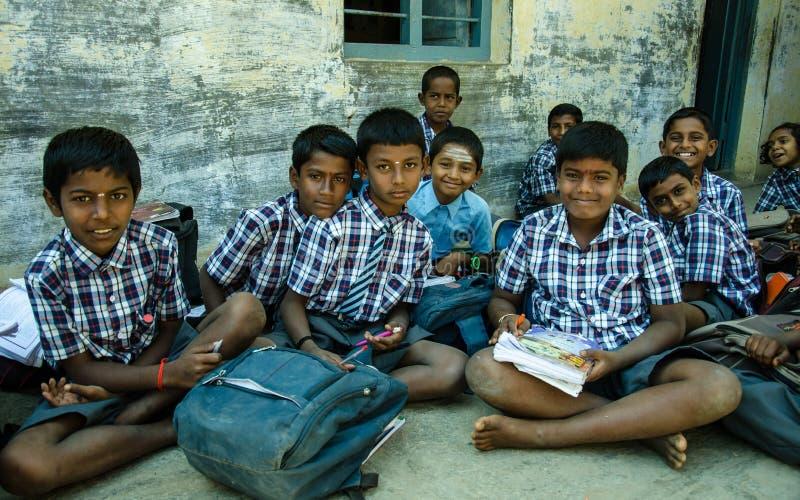 Alumnos (la India) foto de archivo