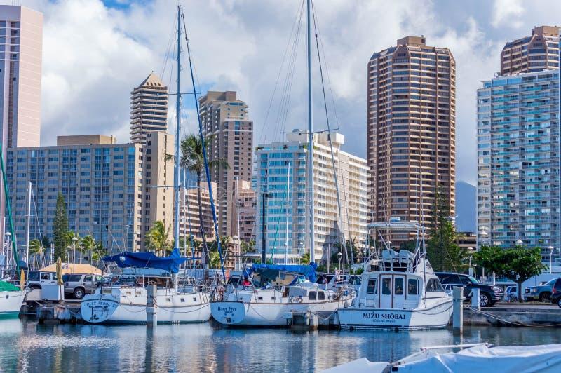 Alun Wai Boat Harbor arkivfoto