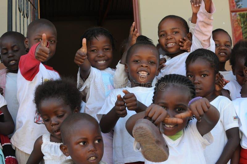 Alunos africanos foto de stock