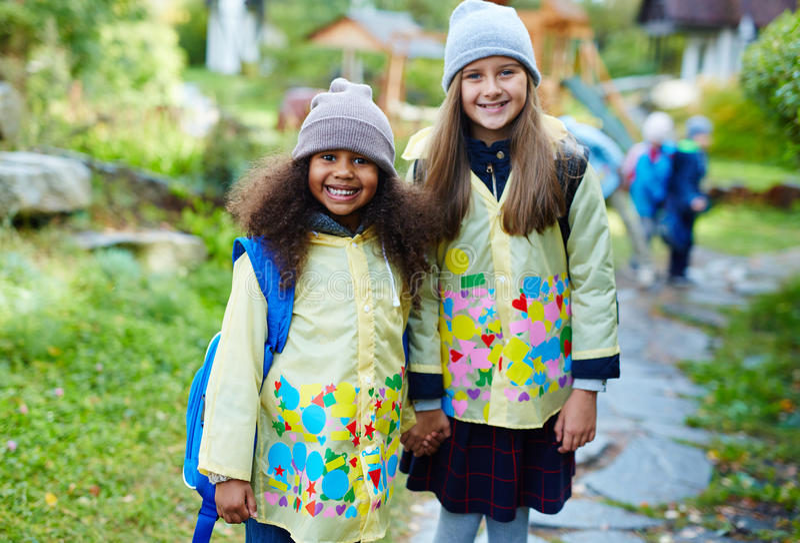Alunos da escola primária fotografia de stock royalty free