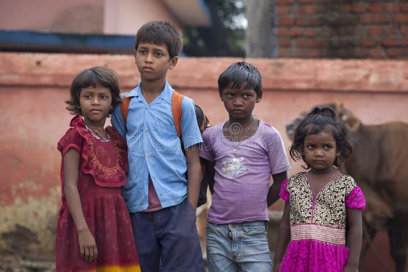 Alunos indianos felizes imagem de stock royalty free