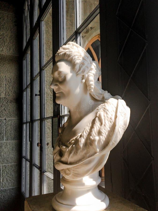 ALUPKA, CRIMEA - 1 de setembro de 2019: Retrato de Catherine II no Palácio Vorontsov Johann Esterreich retrato mais acreditável fotografia de stock
