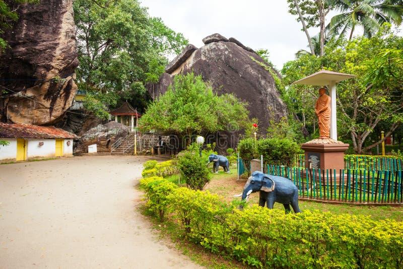 Aluvihara岩石寺庙, Matale 库存照片