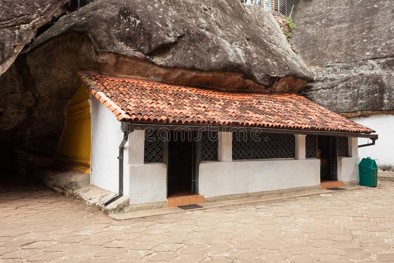Aluvihara岩石寺庙, Matale 免版税库存照片