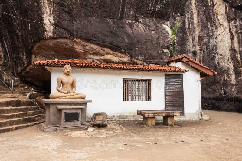 Aluvihara岩石寺庙, Matale 免版税库存图片