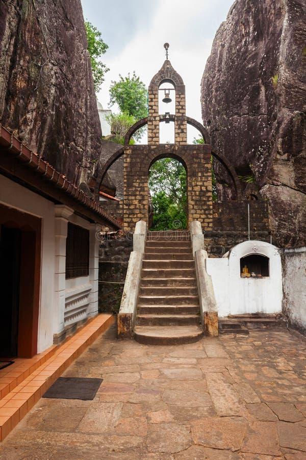 Aluvihara岩石寺庙, Matale 库存图片