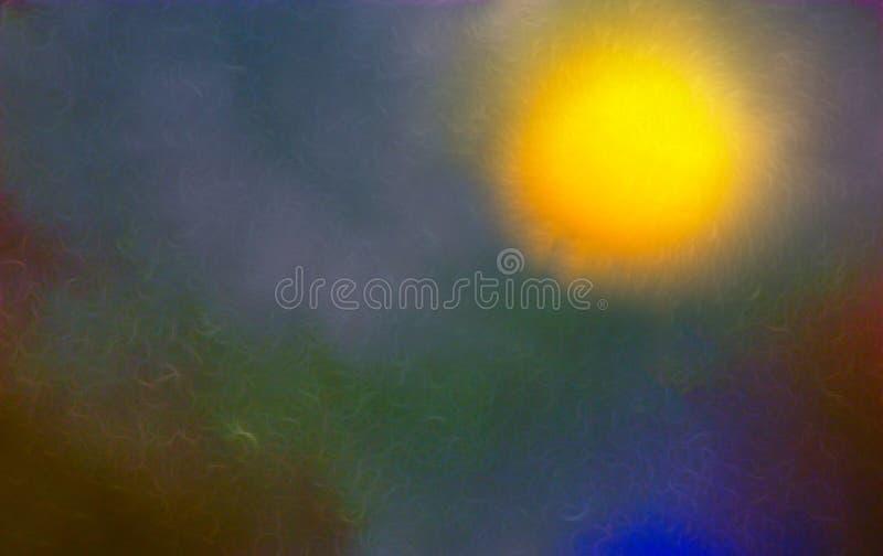 aluzja kosmaty słońce Gwiazda w odległym galaxy ilustracji