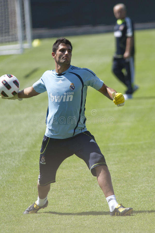 Alvaro Arbeloa at Practice royalty free stock image
