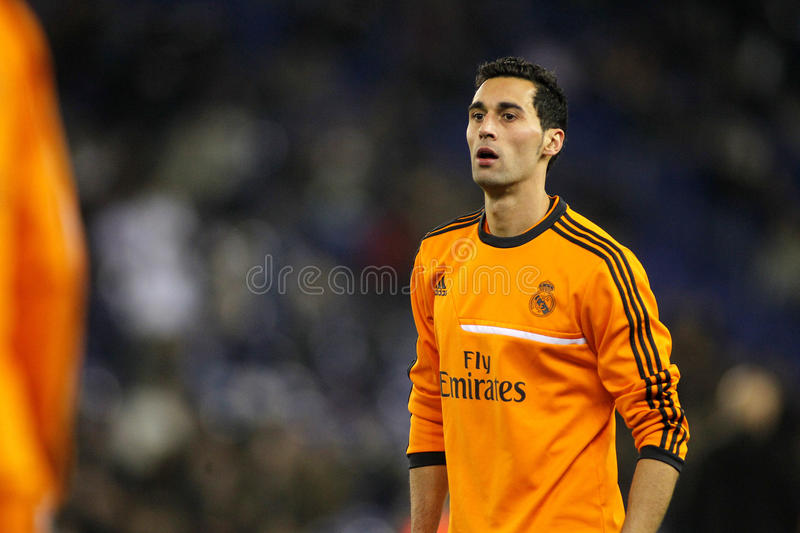 Alvaro Arbeloa of Real Madrid stock image
