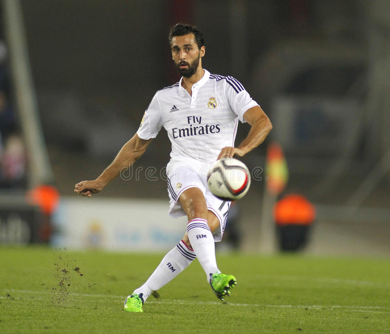 Alvaro Arbeloa of Real Madrid stock photography
