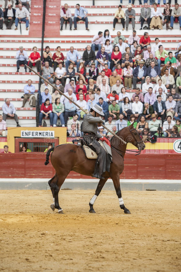 Alvaro Montes, garrocha espanhol da bruxa do toureiro a cavalo ( imagens de stock royalty free