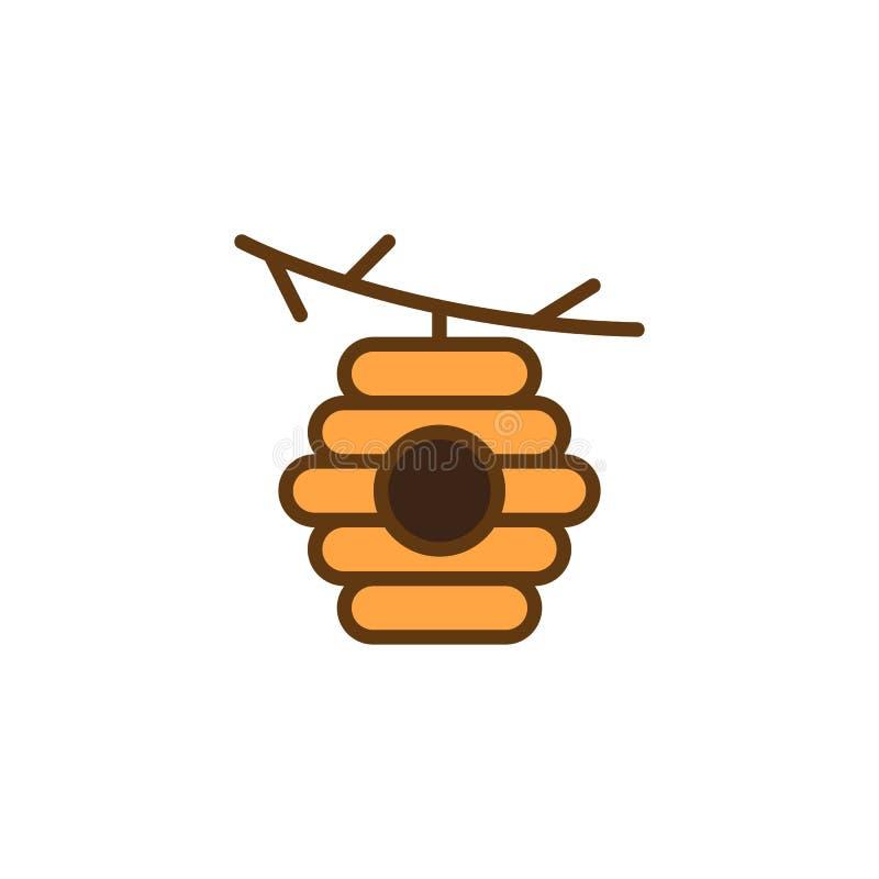 Alveare sull'icona del profilo riempita ramo illustrazione di stock