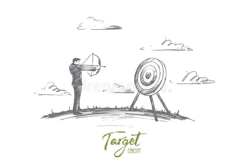 Alveje o conceito Vetor isolado tirado mão ilustração do vetor