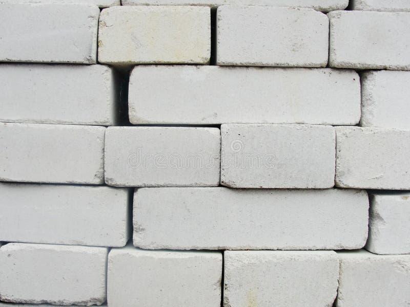 alvenaria compilação, uma combinação de branco, tijolo do areia-cal foto de stock royalty free