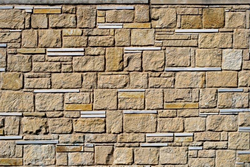 Alvenaria decorativa do vintage das pedras ao projeto, foto de stock royalty free
