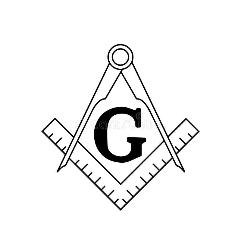 Alvenaria livre Logo Vetora Illustration ilustração stock