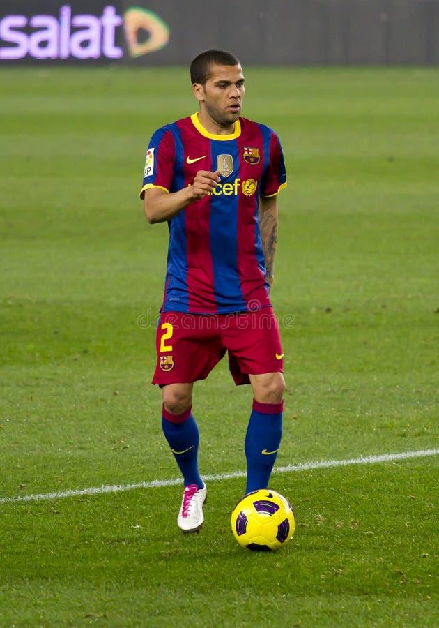 Alves (FC Barcelona) fotos de archivo