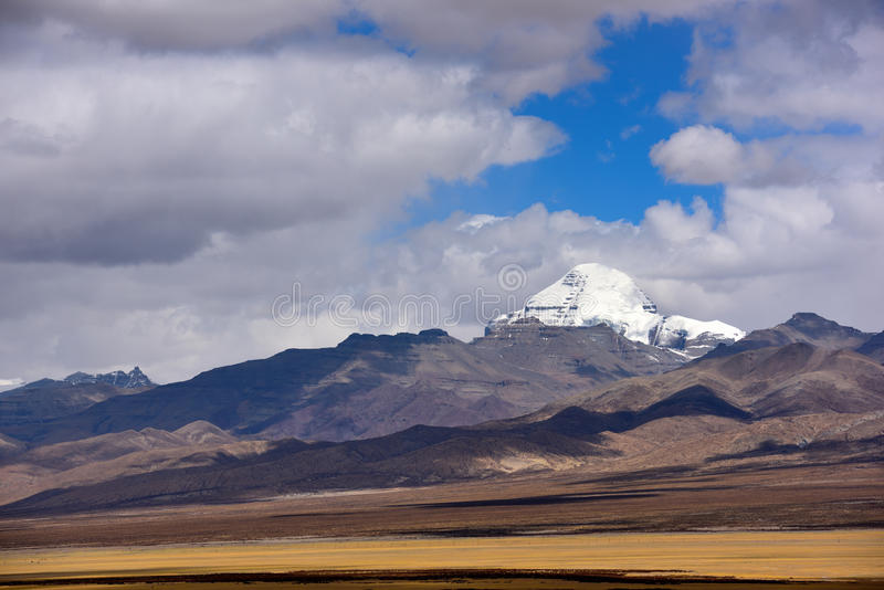 Alvin county Kangrinboqe in Tibet royalty free stock images