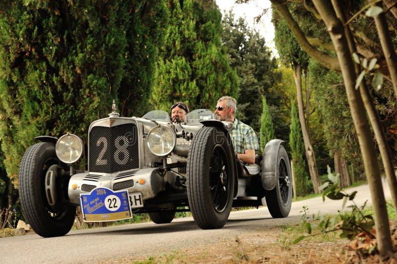 Alvis AL cinzento 4 5 participam ao GP Nuvolari foto de stock royalty free