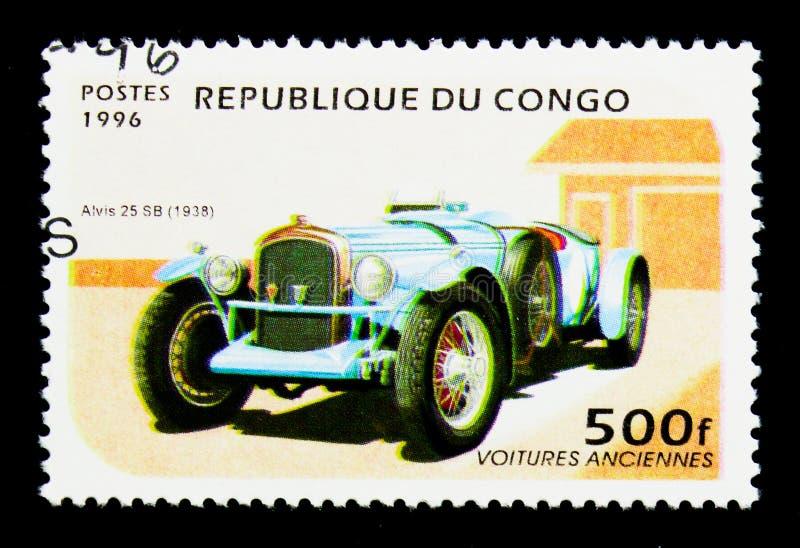 Alvis 25 SB (1938), serie dos carros do vintage, cerca de 1996 foto de stock royalty free