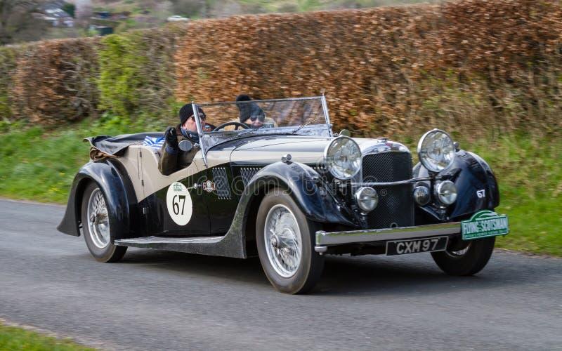 A 1936 Alvis Speed 20 in Cumbria, Inglaterra foto de stock royalty free
