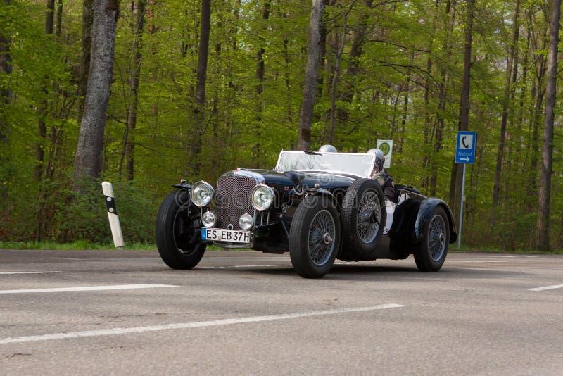 Alvis Speed 1938 25 no ADAC Wurttemberg Rallye histórico 2013 fotos de stock