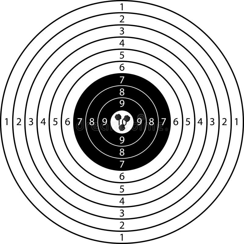 Alvo ilustração do vetor