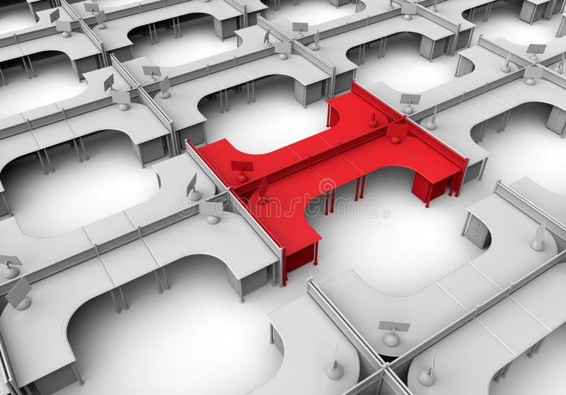 Alvo cúbico do escritório no conceito da multidão ilustração do vetor