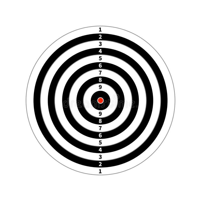Alvo da contagem para a prática de tiro no branco ilustração royalty free