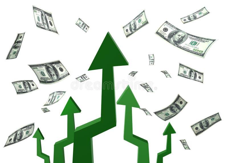 Alvo das setas do dinheiro ilustração do vetor