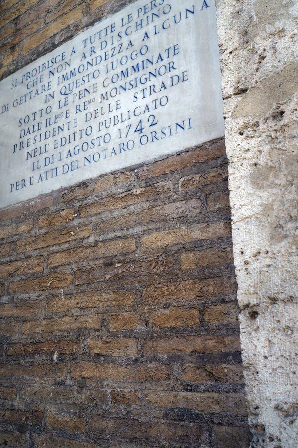 Alvo desde 1742 no centro de cidade histórico de Roma foto de stock royalty free