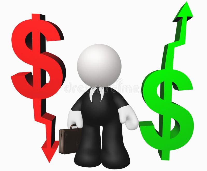 Alvo do ícone da seta do dinheiro ilustração stock