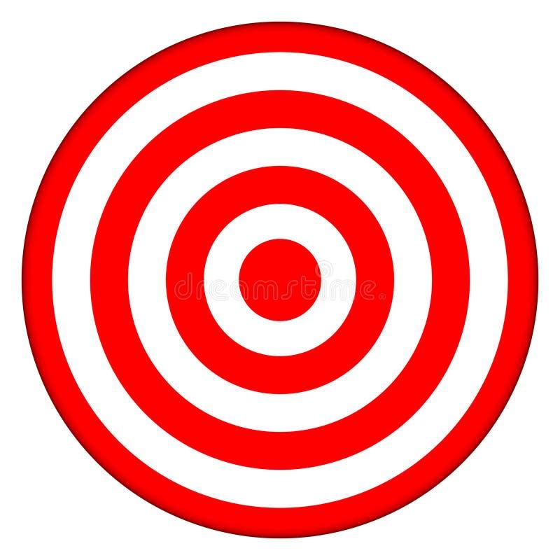 Alvo do Bullseye - sucesso de negócio ilustração do vetor