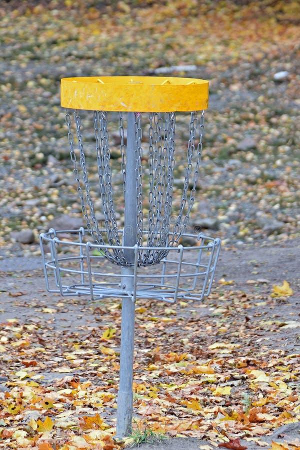 Alvo do golfe do disco foto de stock