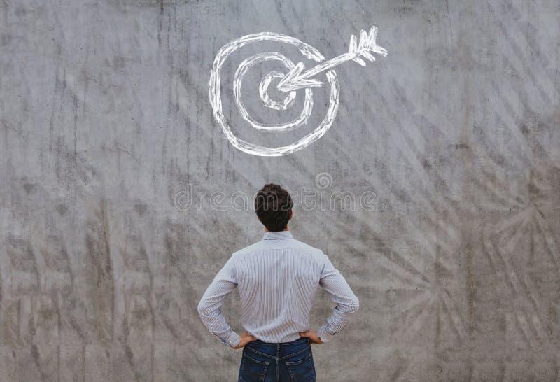 Alvo do negócio, conceito do sucesso, plano ambicioso imagem de stock royalty free