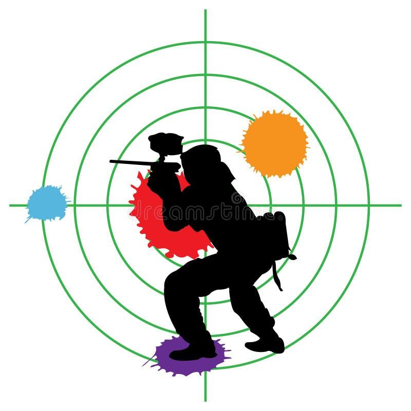 Alvo do Paintball ilustração do vetor