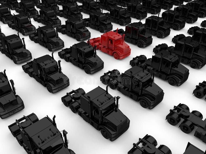 Alvo vermelho dentro de uma frota ilustração royalty free