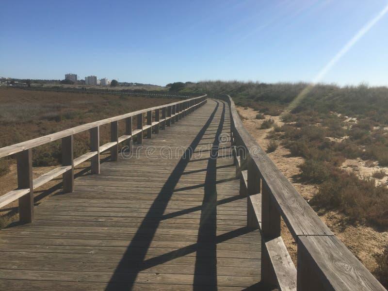 Alvor Beach Boardwalk fotografia stock libera da diritti