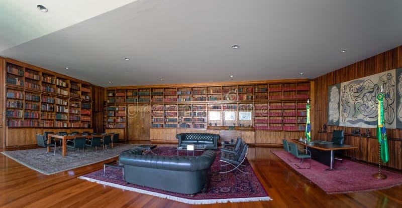 Alvorada Palace Library - Brasilia, Distrito Federal, Brazil royalty free stock photo